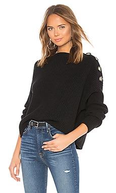 X REVOLVE Button Shoulder Sweater Bardot $99