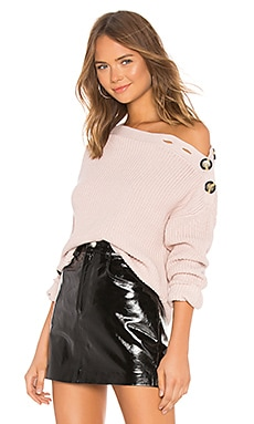 Button Shoulder Sweater Bardot $99