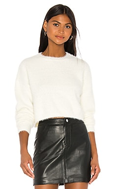 Cropped Fluffy Knit Bardot $69