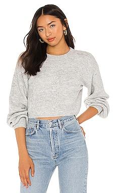 Chloe Cosy Crop Knit Sweater Bardot $79