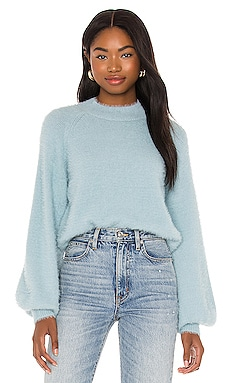 Belle Sleeve Fluffy Knit Sweater Bardot $79 NEW