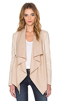 Bardot Waterfall PU Jacket in New Beige