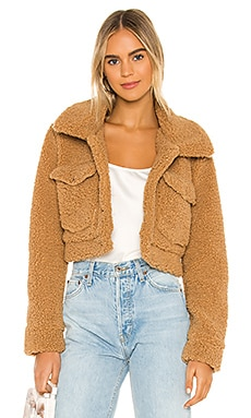 Crop Sherpa Jacket Bardot $119