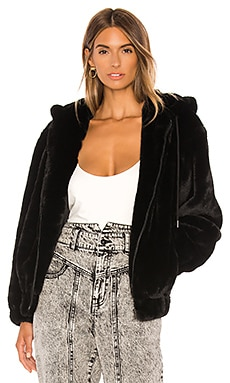 Gigi Zip Faux Fur Jacket Bardot $56