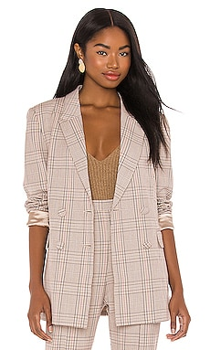 Madrid Check Blazer Bardot $129