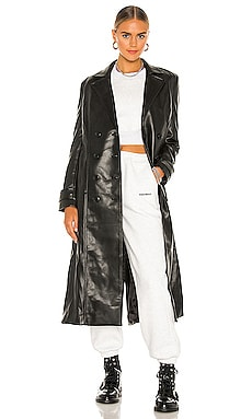 Vegan Leather Trench Coat Bardot $199