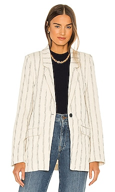 Stripe Blazer Bardot $91