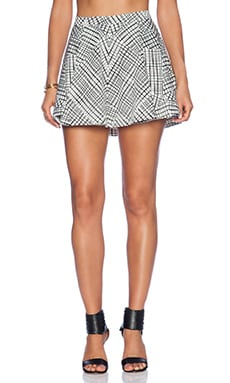 Bardot Webbed Flip Skirt in Print