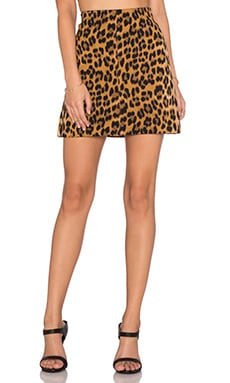 Bardot Leopard Mini Skirt in Leopard