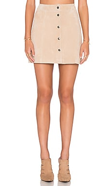 Blondie Suede Skirt in Blonde