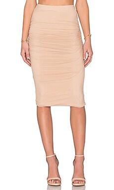 Bardot Mesh Stunner Skirt in Nude