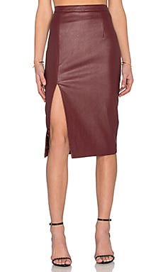 Bardot Khloe Skirt in Bordeaux