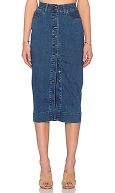 Bardot Chloe Skirt in Denim