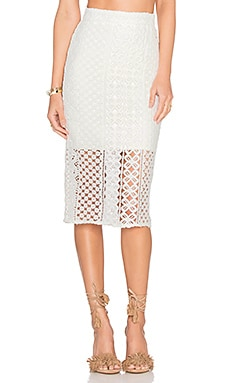 Calista Lace Skirt en Ivoire