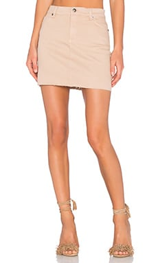 Tusk Mini Skirt in Beige