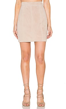 Pebble Suede Mini Skirt in Pebble