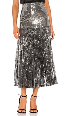 Pleated Sequin Skirt Bardot $129
