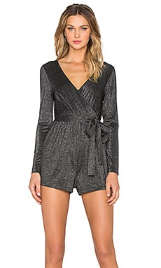 Bardot Lurex Fever Playsuit in Lurex