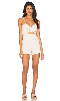 Bardot Bridgette Playsuit in Nougat