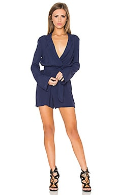 Bardot Millie Playsuit in Blue Ink