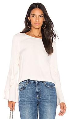 Frill Sleeve Top Bardot $44