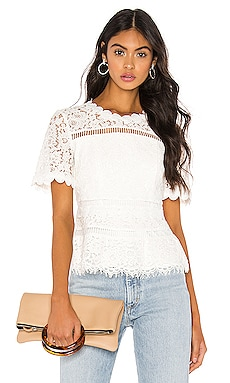 Eloise Lace Top Bardot $109