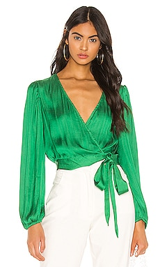 Elena Tie Blouse Bardot $69 BEST SELLER