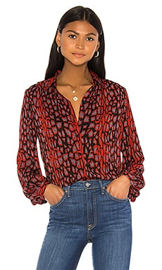 Mona Leopard Blouse Bardot $69 BEST SELLER