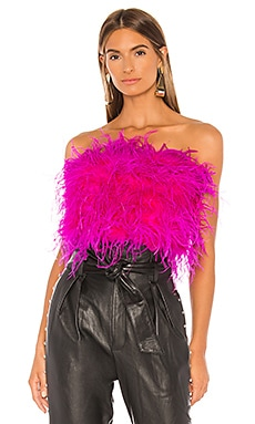 Feather Bustier Bardot $199