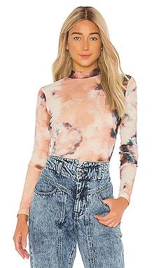 Mesh Tie Dye Blouse Bardot $59