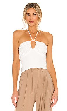 Key Hole Halter Top Bardot $79 NEW