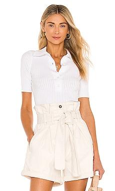 Crop Collar Tee Bardot $69 NEW