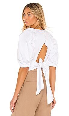 Puff Sleeve Top Bardot $89 NEW