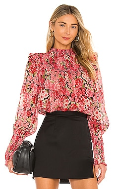 Remi Floral Blouse Bardot $89 BEST SELLER