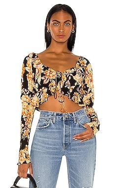 Floral Tie Crop Top Bardot $79 BEST SELLER