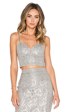 Bardot Lace Top in Grey