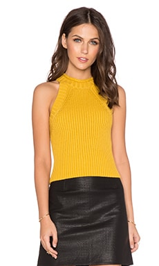 Bardot Heather Skivvy Top in Mustard