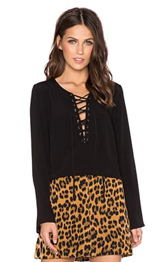 Bardot Hendrix Top in Black