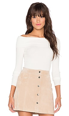 Bardot Jamie Off Shoulder Top in Ivory