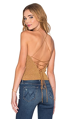 Paloma Knit Top in Gold