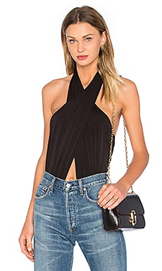 Bardot Wrap Up Bodysuit in Black
