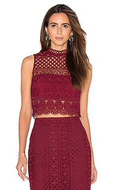 Calista Lace Top en Bordeaux