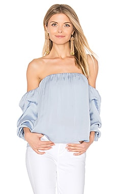 Caught Sleeve Bustier in Powder Blue