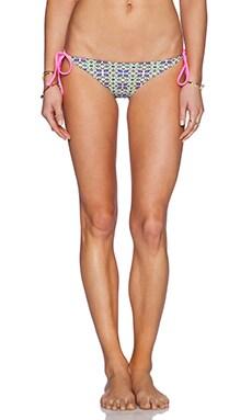 Basta Surf Raglan Reversible Bikini Bottom in Zinnia Green & Offshore Rosa