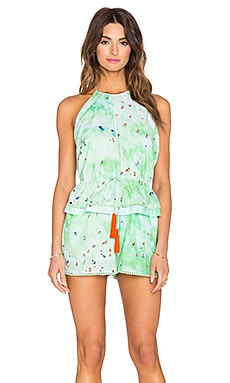 x Gray Malin Mako Romper in Wave
