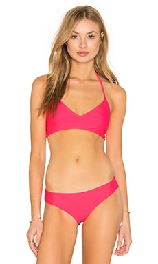 Zunzal Reversible Bikini Top in Foralezza & New Charcoal & Neon Yellow