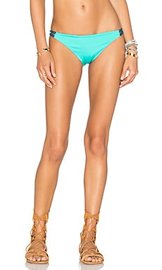 Zunzal Reversible Bikini Bottom in Caraibi & Movida & Dark Jade