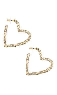 Ciena Heart Hoop Earrings BaubleBar $58