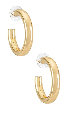 Dalilah Medium Tube Hoop Earrings BaubleBar $38 NEW