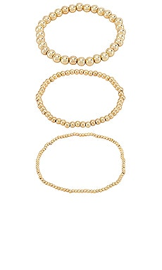 Pisa Bracelet Set of 3 BaubleBar $44 NEW